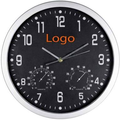 Часы с термометром и гигрометром настенные