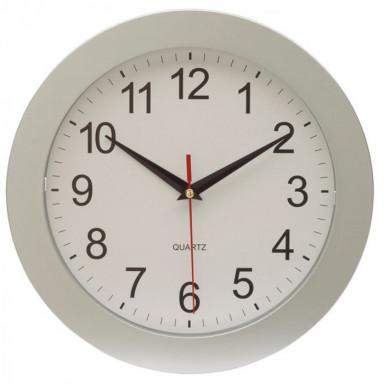 Классические настенные часы в круглом пластиковом корпусе