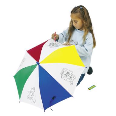 Зонт детский с карандашами для рисования на зонте