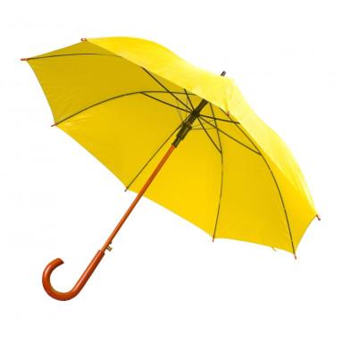 Зонт-трость полуавтомат с деревянной ручкой