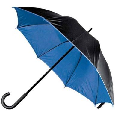 Зонт-трость  двухцветный с двойным слоем нейлона