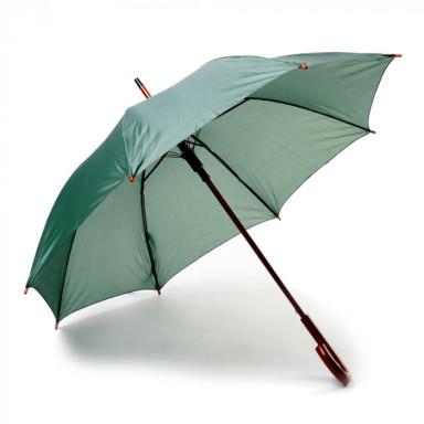 Классический зонт-трость с деревянной ручкой, полуавтомат